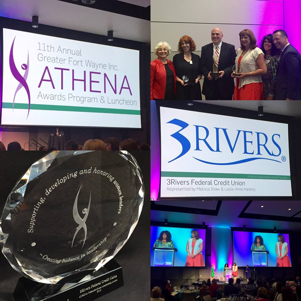 3Rivers was awarded the first ever Athena Organizational Leadership Award by Greater Fort Wayne, Inc. at the Athena Awards Program & Luncheon, April 2016.