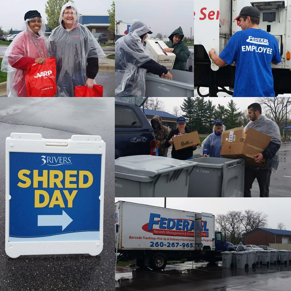 3Rivers partnered with AARP of Indiana and Federal Records Management & Shredding for the first of two free Shred Day events this year, April 2016.
