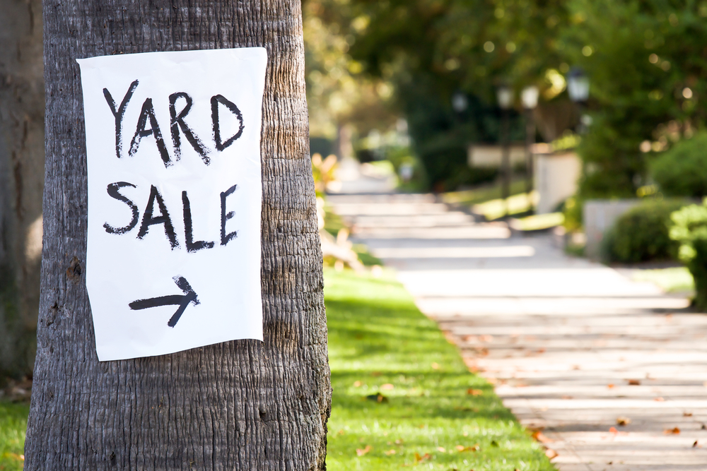 How to Host a Successful Yard Sale | Image source: Shutterstock.com / Photographer: Jerome Kundrotas